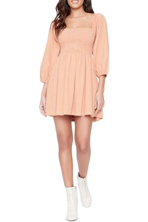 Lost + Wander Women's Where The Heart Is Check Cotton-Blend Minidress