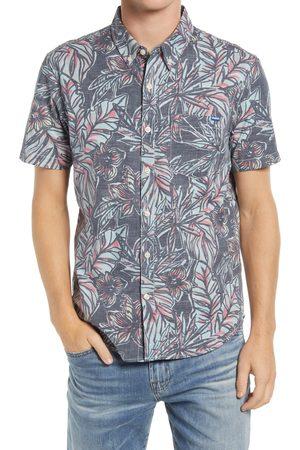Chubbies Men's The Dark Floral Vault Short Sleeve Button-Down Shirt
