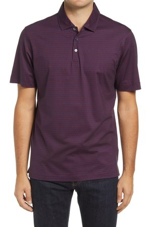 Bugatchi Men's Ooohcotton Print Stretch Polo Shirt