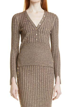 Jonathan Simkhai Women Long sleeves - Women's Autumn Compact Rib Long Sleeve Henley Sweater