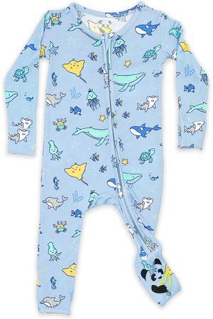 Bellabu Bear Infant Boy's Kids' Ocean Convertible Footie Pajamas