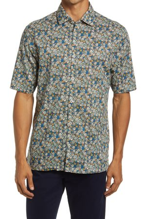 Good Man Brand Men's On Point Slim Fit Short Sleeve Button-Up Shirt