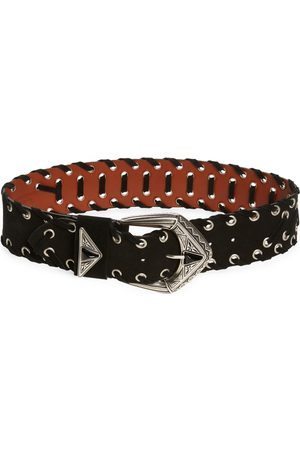 Etro Women's Whipstitched Leather Belt