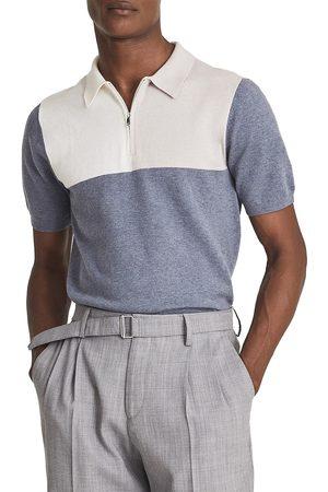 Reiss Men's Port Colorblock Wool Blend Polo