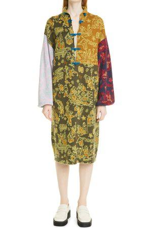 YanYan Women's Laza Yinyang Long Sleeve Merino Wool Dress