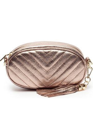 Bronze Quilted Pebble Bag