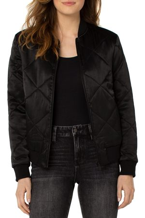 Liverpool Los Angeles Women's X Living In Quilted Satin Bomber Jacket