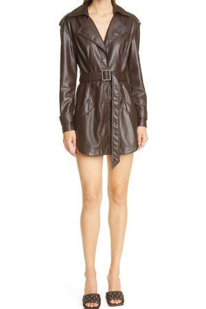 Jonathan Simkhai Women's Chandler Vegan Leather Long Sleeve Coat Minidress