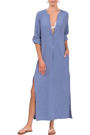 EVERYDAY RITUAL Women Beach Dresses - Women's Deep V-Neck Cotton Caftan