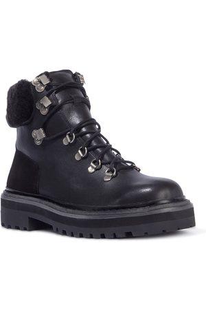 Black Suede Studio Women Lace-up Boots - Dakota