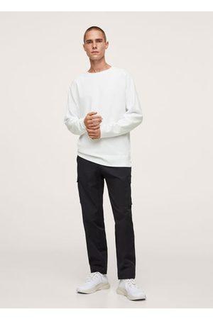 MANGO Long sleeve piqué t-shirt