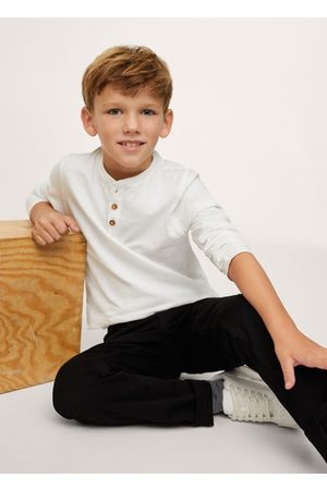 MANGO Buttoned long sleeve t-shirt