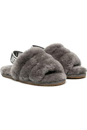 UGG Kids Girls Sandals - Fluff Yeah shearling sandals - Grey