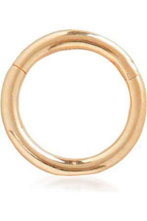 Monica Vinader Earrings - Gold Solid Gold Infinity Hoop 6mm