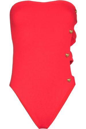 ALEXANDRA MIRO Bella bandeau cut-out swimsuit