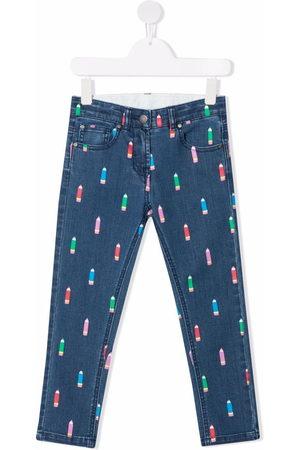 Stella McCartney Kids Pencil-print stretch jeans