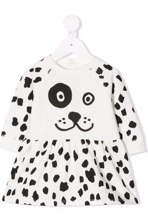 Stella McCartney Kids Spotty dog fleece dress
