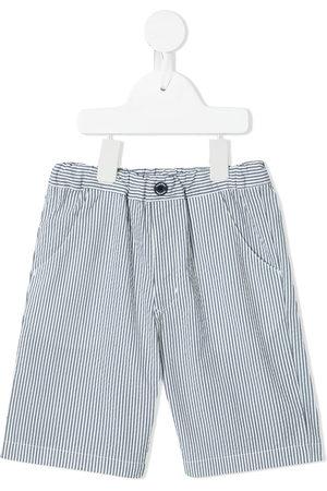 Familiar Striped cotton shorts - Grey