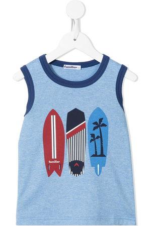Familiar Boys Tank Tops - Surfboard-print cotton tank top