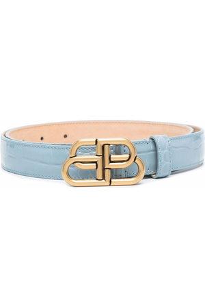 Balenciaga BB-buckle embossed belt