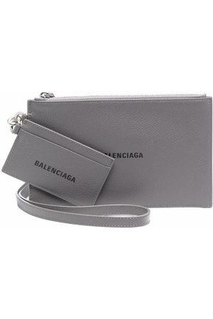 Balenciaga Cash pouch lanyard cardholder - Grey