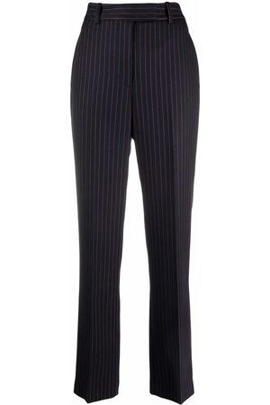 Aspesi Women Straight Leg Pants - Pinstripe straight-leg trousers