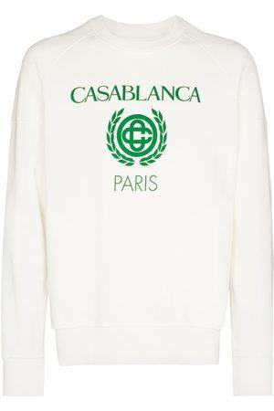 Casablanca Men Sweatshirts - Reverse loopback logo-print sweatshirt