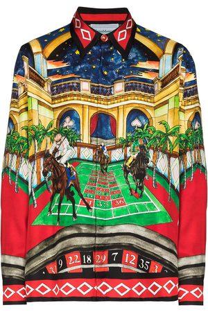 Casablanca Men Shirts - Les Chevaux print shirt
