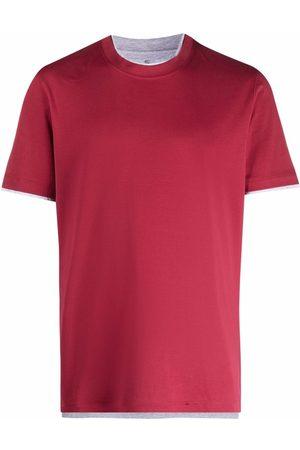 Brunello Cucinelli Men Short Sleeve - Short-sleeve cotton T-shirt