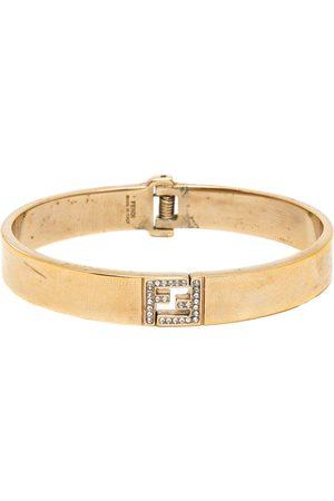 Fendi The sta Crystal Tone Bracelet S