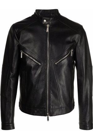 Dsquared2 Men Leather Jackets - Leather zipped jacket