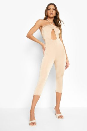 Boohoo Womens Recycled Slinky Ruched Detail Unitard - - 2