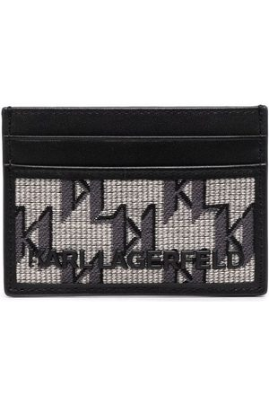 Karl Lagerfeld K/Monogram jacquard cardholder - Neutrals