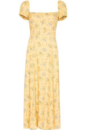 Reformation Women Printed Dresses - Sienne floral-print midi dress - Neutrals