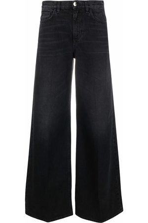 Pinko High-rise wide-leg jeans