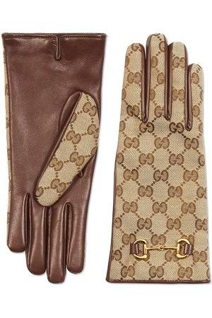 Gucci GG Supreme gloves