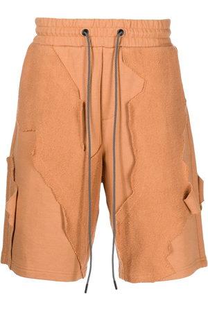 MOSTLY HEARD RARELY SEEN Men Bermudas - Patchwork drawstring shorts