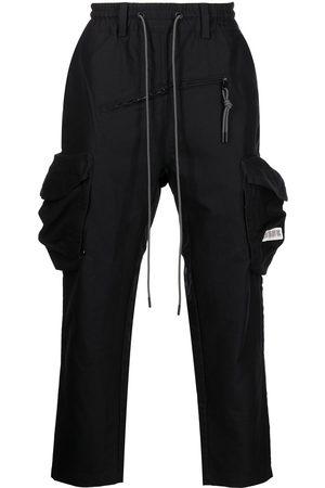 MOSTLY HEARD RARELY SEEN Men Cargo Pants - Elasticated-waist cargo pants