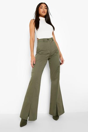 Boohoo Womens Cotton Twill Split Front Cargo Trouser - - 2