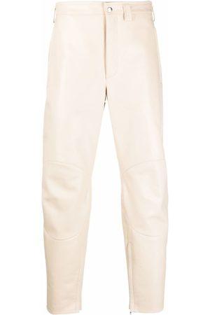 Jil Sander Men Leather Pants - Slim-fit leather trousers - Neutrals
