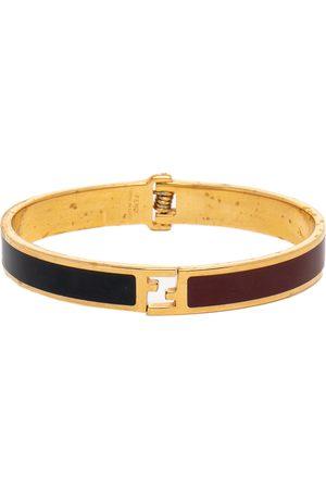 Fendi The sta Bicolor Enamel Tone Bracelet L