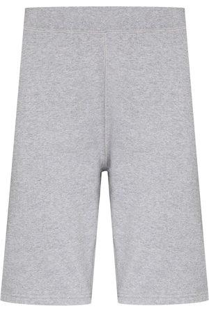Sunspel Men Sports Shorts - Knee-length cotton track shorts - Grey