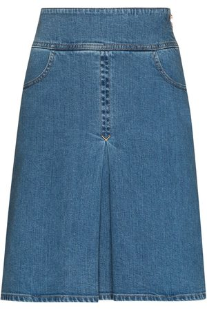 See by Chloé Women Pleated Skirts - Pleated-detail denim skirt