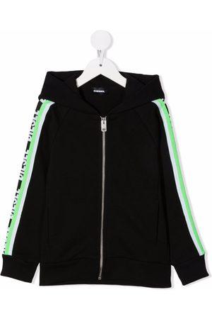 Diesel Kids Logo tape cotton hoodie