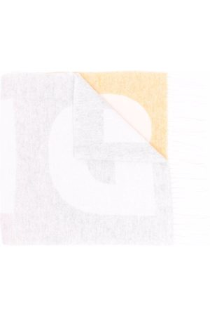 Sandro Women Scarves - Stella logo-print tassel scarf