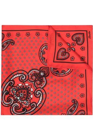 Sandro Bandana-print silk scarf