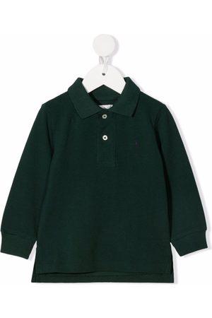 Ralph Lauren Kids Pony logo long-sleeve polo shirt