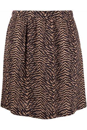 Pinko Women Printed Skirts - Animal-print A-line skirt