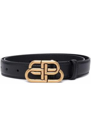 Balenciaga Women Belts - BB-buckle embossed belt