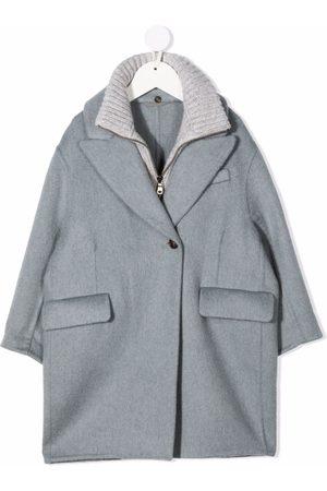 Brunello Cucinelli Kids Girls Coats - Layered cashmere coat